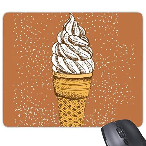 beatChong Sahne, Schokolade, Ei-Kegel-Eiscreme-Anti-Rutsch-Gummi Mousepad Spiel Büro Mauspad Geschenk