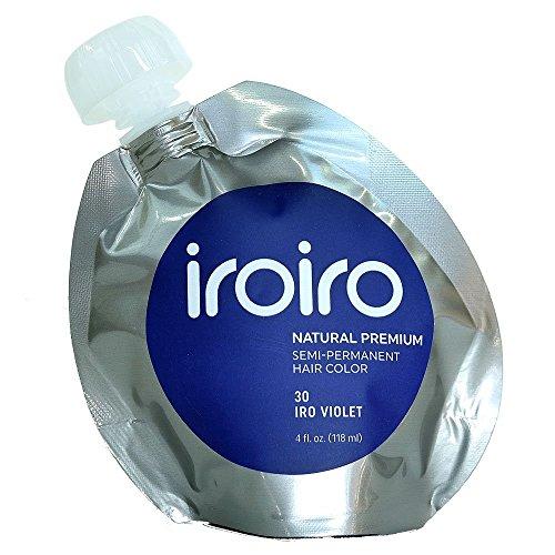 Iroiro Premium Natural Semi-permanenten Haar Farbe 30Iro-Violett 4Oz