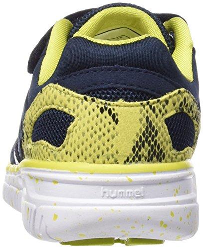 Hummel Crosslite Jr, Chaussures Multisport Indoor mixte enfant Bleu - Blau (Dress Blue / Sulphur Spring 8608)