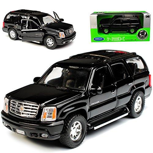 Cadillac Escalade Schwarz Suv GMT800 2. Generation 2001-2006 ca 1/43 1/36-1/46 Welly Modell Auto (2001 Cadillac Ca)