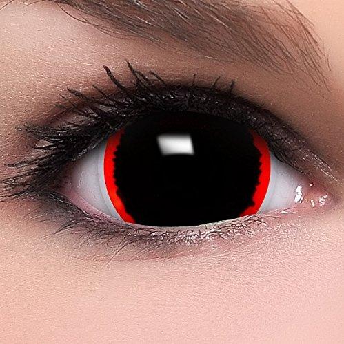 Farbige Mini Sclera Kontaktlinsen Lenses Exorcism inkl. Behälter - Top Linsenfinder Markenqualität, 1Paar (2 ()