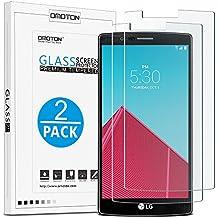 OMOTON [2-pack] Cristal Templado LG G4 Protector de Pantalla con[9H Dureza][Alta Definicion][Garantía de por vida]