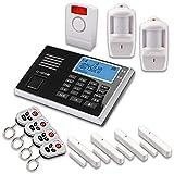 Olympia 5943, Protect 9061 Drahtlose GSM Alarmanlage mit Notruf und Freisprechfunktion, App Steuerung mit ProCom App, schwarz (Alarmanlagenset XXL) (Alarmanlagenset XXL)