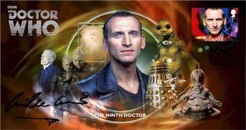 Dr Doctor Who BBC Official 50th Anniversary Limited Edition Camille Coduri unterzeichnet Ersttagsbrief - Der Neunte Doktor - Christopher Eccleston -