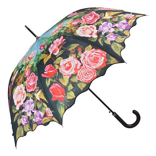 VON LILIENFELD Parapluie Automatique Femme Mode design Motif-floral Roseraie