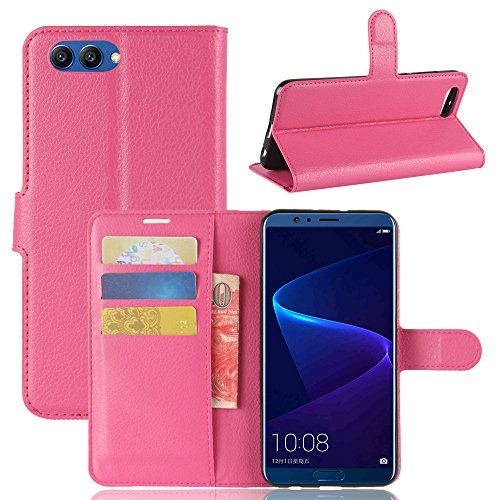 Huawei Honor V10 Durable Protective Case Protective skin Casefirst Protective Skin Double Layer Bumper Shell Shockproof Impact Defender Protective Case Durable Protective Case for Huawei Honor V10 , Hot Pink (Wi Facetime)