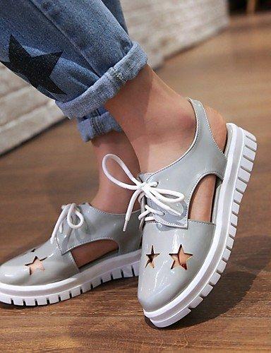 LFNLYX Chaussures Femme-Mariage / Bureau & Travail / Habillé / Décontracté / Soirée & Evénement-Rose / Blanc / Gris-Gros Talon-Bottes à la Mode White