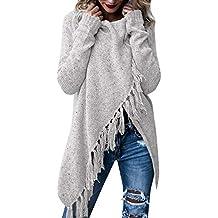 930e0de73c4ce6 Damen Winter Böhmen Quaste Capes Strickpullover Strickjacke Poncho Pullover  Sweater Cape mit Rollkragen Gestrickten Pulli Sweater
