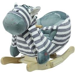 """Sweety Toys 4812 de oscilación de los animales del caballo mecedora de la cebra """" Ben la cebra"""" super dulce , muy diseño de alta calidad con la función de canción Lullaby"""