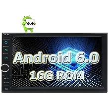 Eincar 7 '' Android 2 DIN Autoradio navegaci¨®n del coche est¨¦reo de malvavisco 6.0 de cuatro n¨²cleos unidad de Wifi FM AM Espejo Link HD Touchscreen Cabeza de radio auto Bluetooth USB (no DVD)
