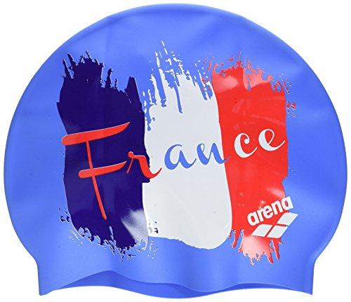 Arena Silicona Print 2 Gorro de Natación, Hombre, Multicolor (Flag / France), UNI