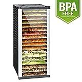 Klarstein Fruit Jerky 18 Deshidratadora • Desecadora • Secadora de fruta y carne • 18 pisos • 1000 W • Circulación de aire • Regulable • 2,3 m² • Negro