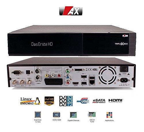 AX TriplexBox HD   2xDVB-S2 1xDVB-C/T2, ohne HDD