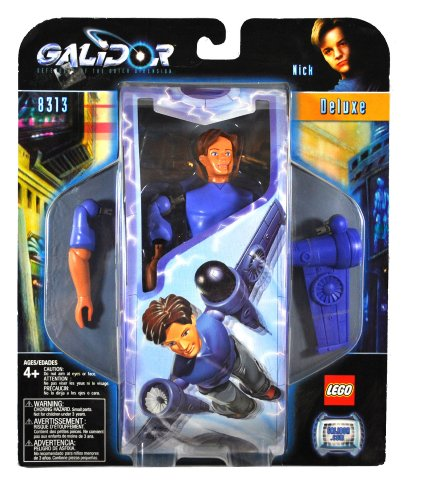 2002 Lego-sets (Lego Year 2002 Galidor Defenders of the Outer Dimension Deluxe Series 9 Inch Tall Figure Set # 8313 - NICK with Power Wings Equipped with 2 Missiles (Total Pieces: 15) by Galidor)