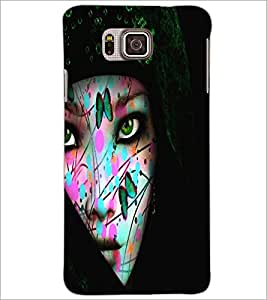 PrintDhaba Wild Girl D-5443 Back Case Cover for SAMSUNG GALAXY ALPHA (Multi-Coloured)