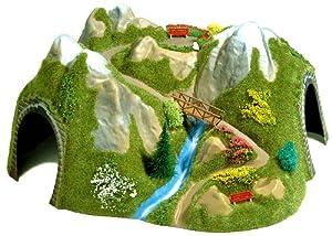 Busch 3021 - Túnel en ángulo con río y Puente