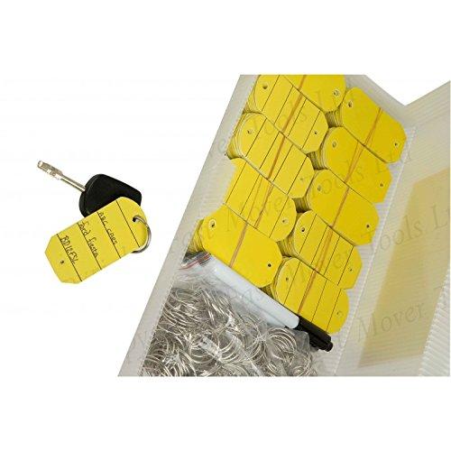 Fast Mover Tools Kunststoff-Schlüsselanhänger, gelb, Box mit