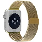 Apple Watch Band, Urvoix (TM) 38mm cierre magnético, totalmente Milanese Loop de malla cierre Bandas Correa de pulsera de acero inoxidable para Apple Watch & Sport & Edition 38mm