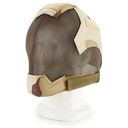 all Taktisch Schützen Sie die Full Cover Face Steel Net Mesh Fechtmaske Halloween Cs Spiel Schießen Aktivitäten Schützend Masken (TD) ()