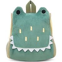 BELK Little ragazzo Cool Animal-Zaino per Bambini,Sidekick,per Neonati,Borsa per il Pranzo per Bambini,Scuola,Borsa a mano,Porta Bottiglia d'acqua,Green Crocodile (Verde)