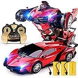 Ycco Gros jouets 2.4 Ghz Radio Télécommande Voiture Deformation Enfant robot 1:10 modèle Commande À Main Spinning Racing véhicule Garçon Filles D'anniversaire Jouet for Enfants cadeau