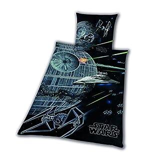 Bettwäsche glatt Star Wars 8 Todesstern Rey Finn Tico Yoda 155 x 220 cm NEU WOW - All-In-One-Outlet-24 -