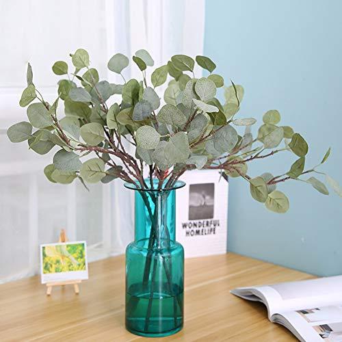 Sanwood Künstliche Pflanze für Eukalyptus, Grünerei, Hochzeitsdekoration, Brautstrauß, Kranz, 1 Stück (Kränze Halloween Cute)