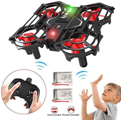 Mini Quadcopter Drohne für Kinder, RC Drohne mit Toss / Shake Entfernen Geste Gesteuerte Höhe Halten 3D Flips und Headless Modus Easy Fly