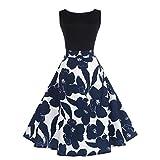 Vestido de mujer, ❤️Xinantime Vestido de bola sin mangas elegante floral de las mujeres Vestido Hepburn de té vintage Vestido Elegantes de Noche (XXL, ❤️Negro)