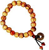 #10: Haflingerr Wood Beads With Feng Sui Lucky Charm Coin Bracelet For Men And Boys