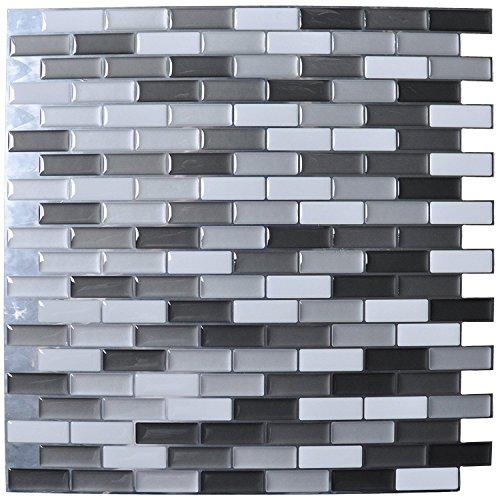 ART3D schälen und Stick backsplashes Fliesen Vinyl Küche Wand Stikers, 6Stück -