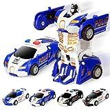 susens Kollisionsverformung Auto Roboter Spielzeug Transformation per Knopfdruck Kinder Spielzeug Mini Manuelle Roboter