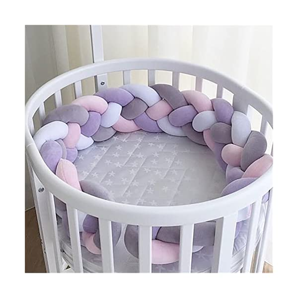 elegantstunning Baby Crib Bumper Knotted Braided Plush Nursery Pillow Cushion elegantstunning Made of high quality material, soft and comfortable, safe, durable. Avoid your baby's head, legs or hands bumping into crib, keeps your little ones safe. Fits all baby cribs or toddler stroller carriage, flexible to use. 7