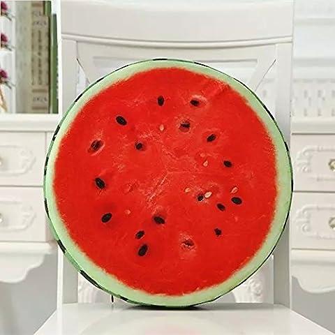 flashing lights- cojín de fruta de la manera creativa juguetes de peluche cojín amortiguador de la almohadilla cojines personalizados pueden ser desmontable y lavable ( Color : Watermelon