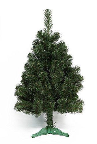 DecoKing 52488 100 cm Künstlicher Weihnachtsbaum Tannenbaum Christbaum grün Tanne Lena Weihnachtsdeko