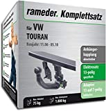 Rameder Komplettsatz, Anhängerkupplung abnehmbar + 13pol Elektrik für VW TOURAN (143394-04954-2)