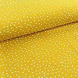 Stoffonkel / Bio Jersey Dotties senf (GOTS) / 0,5x165
