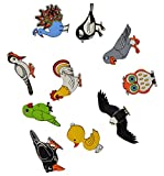 #8: Skillofun Wooden Magnetic Cutouts - Birds, Multi Color (Set of 10)