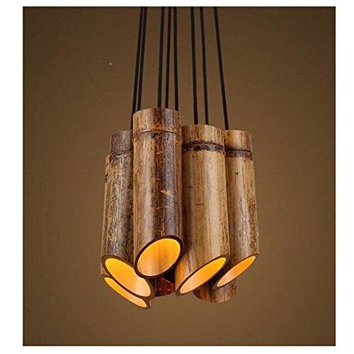 BJVB Bambù tubo lampadari legno faretti plafoniere