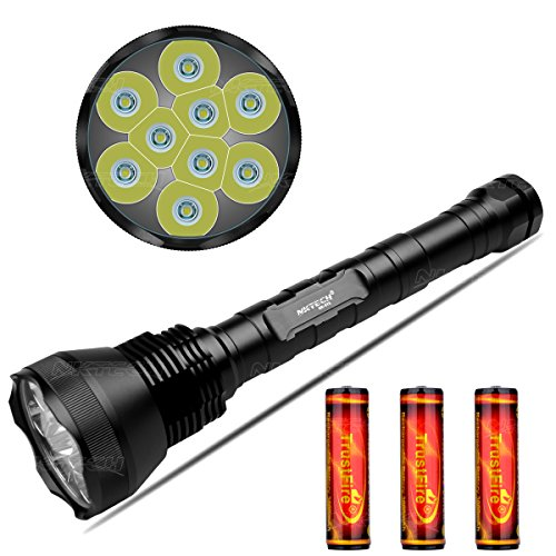 Preisvergleich Produktbild nktech nk-9t69x T6LED 11000Lumen Taschenlampe Tactical Taschenlampe Bike Scheinwerfer mit verlängerter Tube, Fit Outdoor Camping Jagd und 3TrsutFire 186503000mAh Akku