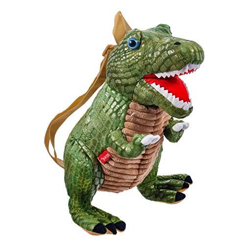 Beppe Tyranosaurus Saurier T-Rex - Mochila Infantil de Peluche (Ideal para Regalar, en Bonitos Colores)