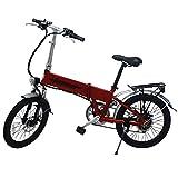 "E-Bike Elektro Fahrrad Faltrad 20"" 51cm ALUMINIUM Ebike 6 Gang Shimano (Rot)"