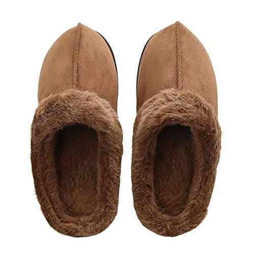 Zapatillas de Estar por casa para Mujer, Invierno Pantuflas Caliente Antideslizante Zapatos de Interior, Hombre/Mujer para Interior o Exterior Caliente Suave Antideslizante Slippers