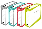 Elba - Juego de cajas archivadoras (4 unidades, 8 cm colores surtidos)