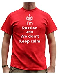 Nutees I'm Russian And We Don't Keep Calm Funny Mens T Shirt - Red