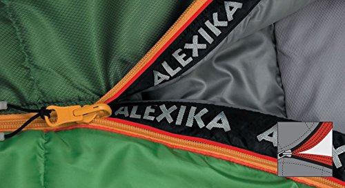 ALEXIKA Schlafsack Aleut, rechte Reißverschluss, grün-grau / grau, 95(Breite oben)x230(Länge) x65(Breite unten), 9232.0107R - 6