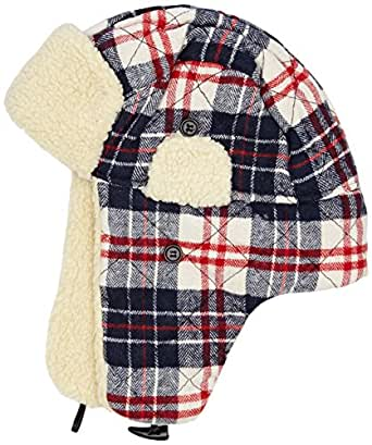 joe browns s cool check trapper hat navy one size