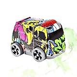 YeahiBaby Baby Spielzeugauto Set Graffiti Camouflage Auto Lernspielzeug Reibung Angetrieben Fahrzeug Spielzeug für Kinder Kleinkinder (Zufällige Bus Stil oder Militärischen Stil)