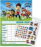 Paw Patrol Re-usable Reward Chart (including FREE Star Stickers, stickers and Pen) - P