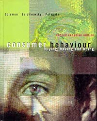 Consumer Behaviour: Buying, Having and Being by Michael R. Solomon (2001-06-01)